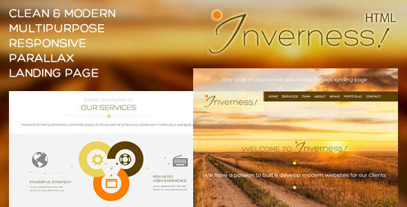 Inverness | Multi-Purpose Parallax Landing Page