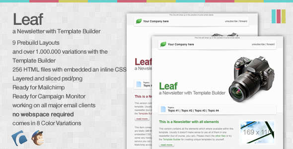 Leaf - a Newsletter with Template Builder