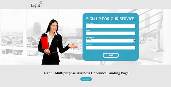 Light - Business Unbounce Landing Page