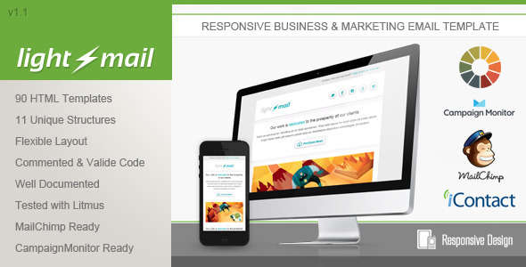 LightMail - Responsive Email Template