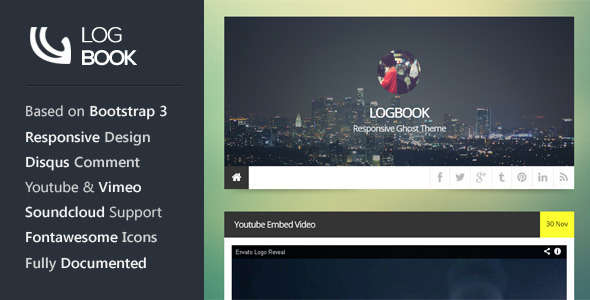 LogBook - Responsive Ghost Theme
