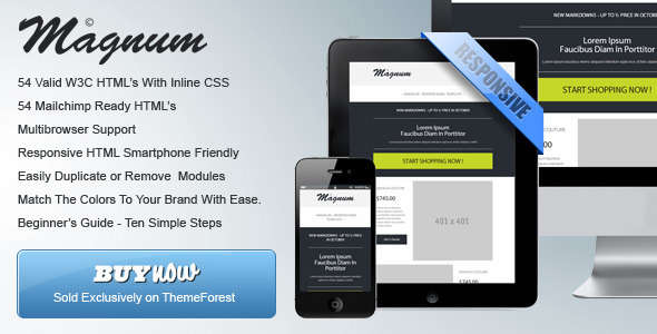 Magnum - Responsive HTML Email Templates