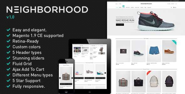 Neighborhood - Ultimate Responsive Magento Theme
