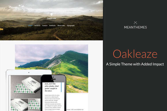 Oakleaze: A Simple Theme