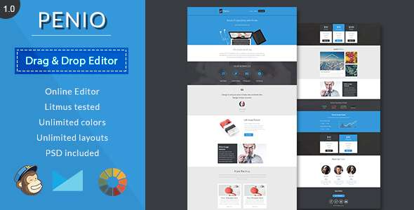 Penio-Responsive Email Template With Editor