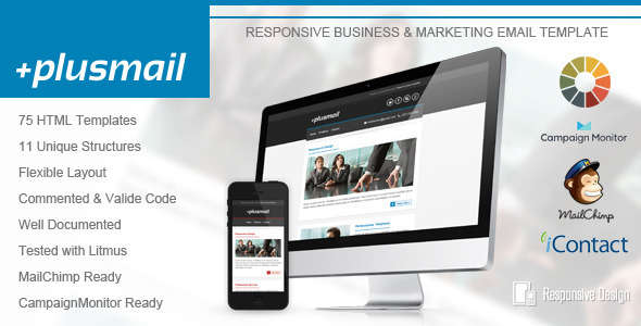 PlusMail - Responsive Email Template