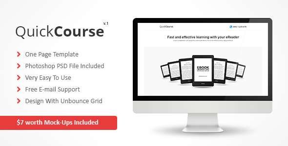 QuickCourse - Unbounce Template