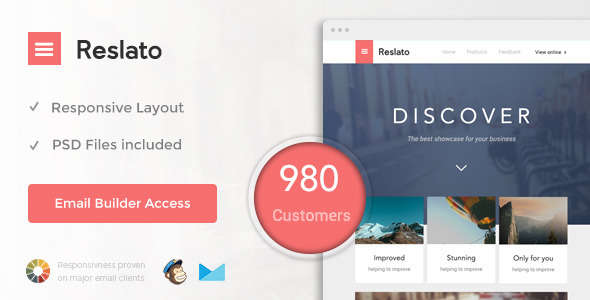 Resalto - Responsive Email + Themebuilder Access