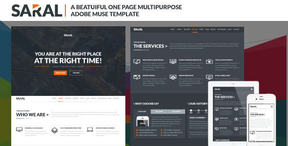 Saral: Animated Parallax Muse Theme