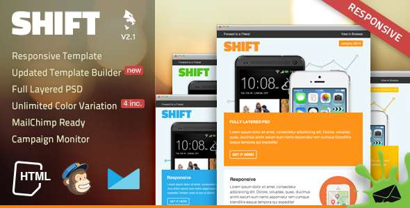Shift Responsive Email Template