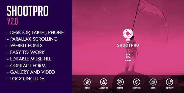 Shootpro Studios Muse Template 2.0 - Updated