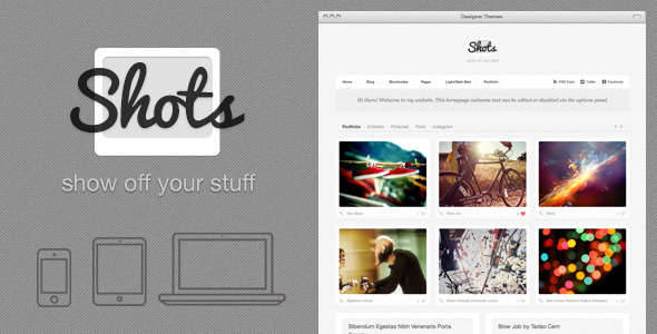 Shots, a Photo/Folio Theme to Show Off Your Stuff