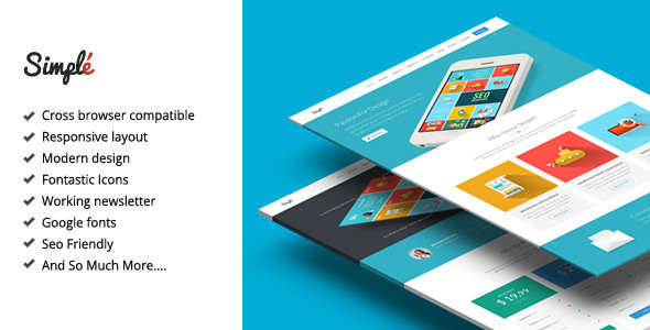 Simple - Responsive Landing Page Template