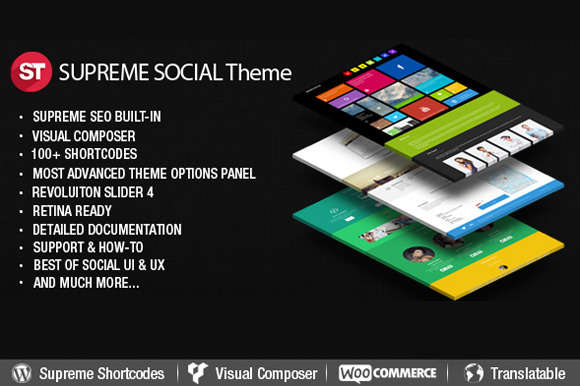 Supreme Social - WordPress Theme