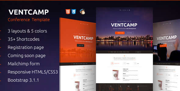 Ventcamp - Responsive Conference Landing Page