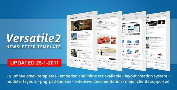 Versatile Newsletter 2 - 9 layouts, modular system