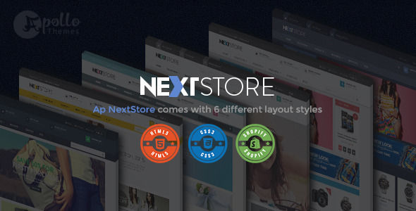 Ap Next Store by Apollotheme is a Shopify theme which features support for RTL languages, Mega Menu, fully responsive layouts, search engine optimization, Google Fonts support, Bootstrap framework utilization and  a grid layout.