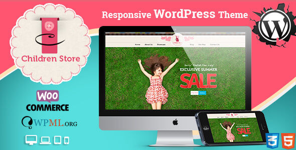 Children Store Responsive WordPress Theme by CrunchPress is a kids store WordPress theme which features parallax elements, fully responsive layouts, Google Fonts support, Revolution Slider, WooCommerce integration, clean design, Bootstrap framework utilization and Colorful.
