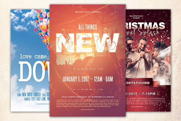 Church Festival Flyer Bundle by Loswl is available from CreativeMarket for $11.