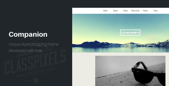 Companion Clean And Responsive Ghost Theme by ClassPixels is a Ghost theme which features support for RTL languages, fully responsive layouts, clean design, is great for your personal site and  flat design aesthetics.
