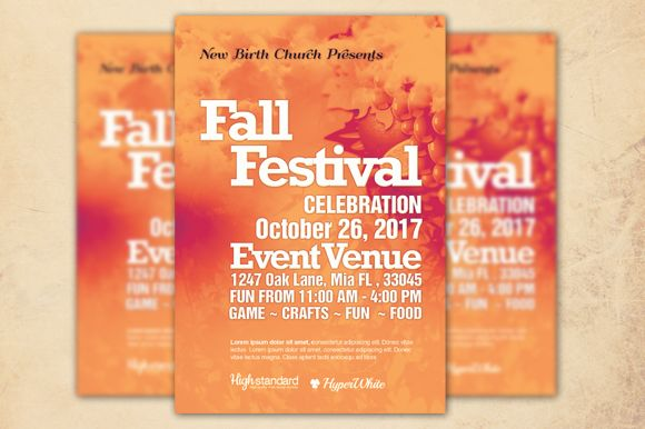 Fall Festival Church Flyer Template by Loswl is available from CreativeMarket for $6.