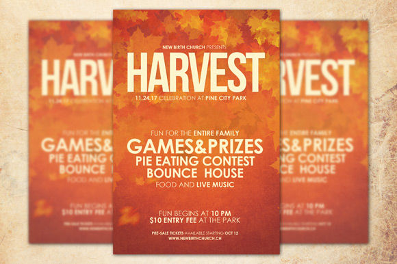 Harvest Celebration Church Flyer by Loswl is available from CreativeMarket for $6.