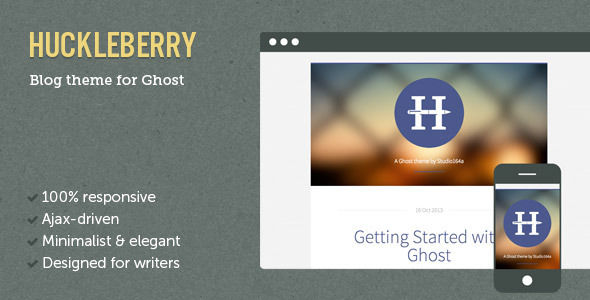 Huckleberry Ghost Theme by AddtoFavorites is a Ghost theme which features fully responsive layouts, blogging related layouts and optimizations and  minimal design.