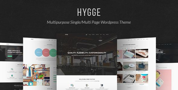 Hygge by Tommusrhodus is a WordPress theme which features Retina display support, parallax elements, one page layouts, fully responsive layouts, search engine optimization, Google Fonts support, Revolution Slider, WooCommerce integration, clean design, Bootstrap framework utilization, support for photo galleries, can be used for your portfolio, magazine style layouts, flat design aesthetics and a grid layout.