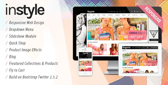 Lingerie Store Responsive Shopify Theme by Tvlgiao is a Shopify theme which features parallax elements, support for RTL languages, fully responsive layouts, Google Fonts support, WooCommerce integration, clean design, Bootstrap framework utilization, Colorful, a grid layout and  minimal design.