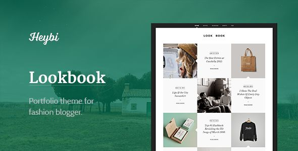 Lookbook by Themejutsu is a Ghost theme which features fully responsive layouts, clean design, support for photo galleries, can be used for your portfolio, blogging related layouts and optimizations, a grid layout and  minimal design.