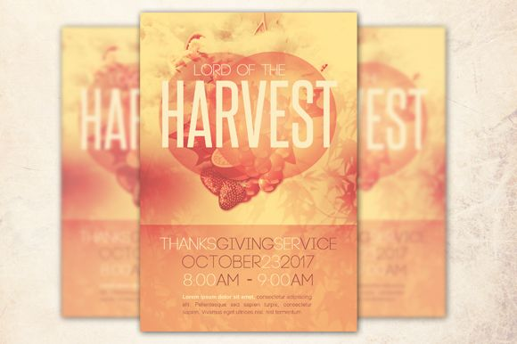 Lord Of The Harvest Church Flyer by Loswl is available from CreativeMarket for $6.