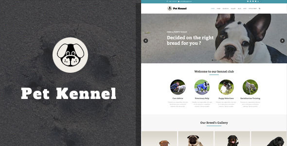 Pet Care Dog Kennels WordPress Theme by Kayapati is a WordPress theme for pet rescues and animal shelters which features one page layouts, fully responsive layouts, Revolution Slider, WooCommerce integration and clean design.