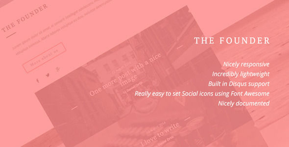 The Founder by Sugar-themes is a Ghost theme which features fully responsive layouts, clean design and  minimal design.