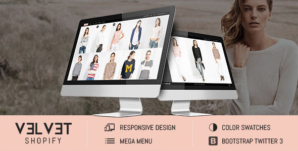 Velvet by Tvlgiao is a Shopify theme which features parallax elements, support for RTL languages, fully responsive layouts, Google Fonts support, WooCommerce integration, Bootstrap framework utilization and  minimal design.