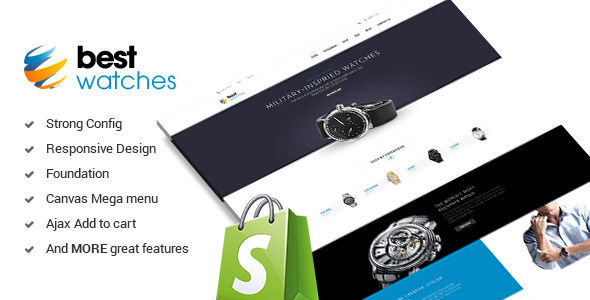 Watches by Apollotheme is a Shopify theme which features support for RTL languages, fully responsive layouts, corporate style visuals and  a grid layout.