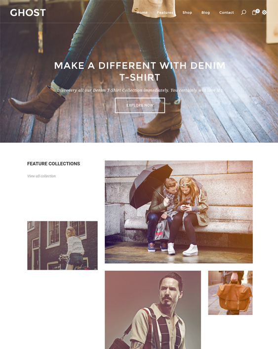 ghoster parallax shopify theme