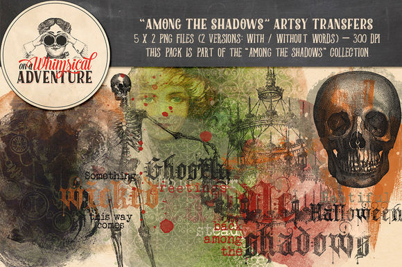 Among The Shadows Artsy Transfers by OnAWhimsicalAdventure is available from CreativeMarket for $7.