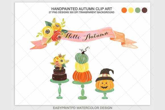 Autumn Fall Halloween Clip Art by Pdeasyprint is available from CreativeMarket for $7.