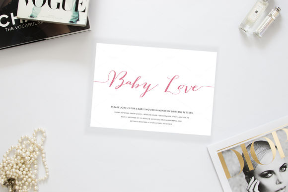 Baby Love Baby Shower Invitation by AllyJCreative is available from CreativeMarket for $8.
