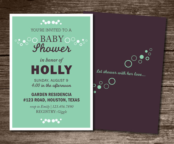 Baby Shower Invitation Circle by Aticnomar is available from CreativeMarket for $6.