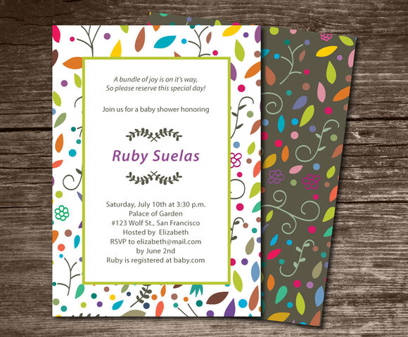 Baby Shower Invitation Colors by Aticnomar is available from CreativeMarket for $6.