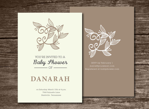 Baby Shower Invitation Initial by Aticnomar is available from CreativeMarket for $6.