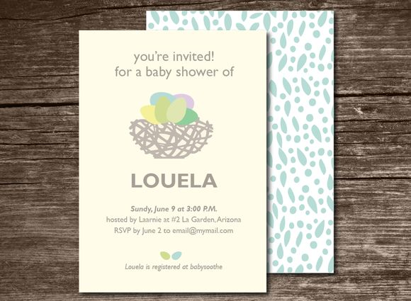 Baby Shower Invitation Nest by Aticnomar is available from CreativeMarket for $6.