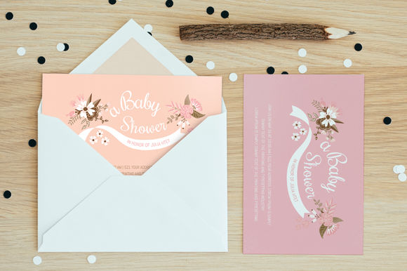 Baby Shower by AzuriCreative is available from CreativeMarket for $8.