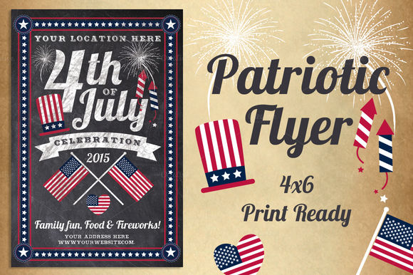 Chalk Patriotic Flyer by LucionCreative is available from CreativeMarket for $5.