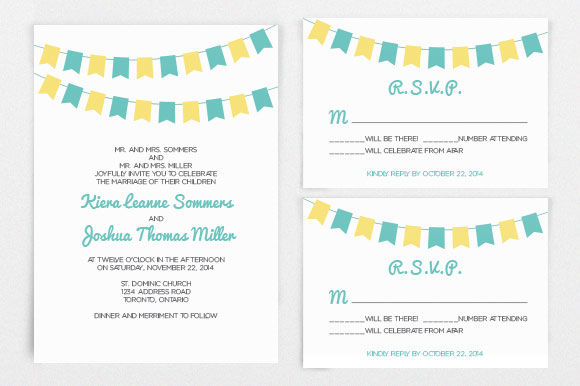DIY Wedding Invitation Template by BellaBoutiqueDesign is available from CreativeMarket for $9.