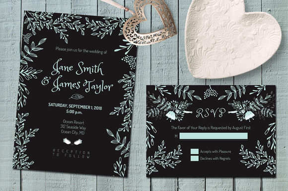 Dark Wedding Invitation by Webvilla is available from CreativeMarket for $8.