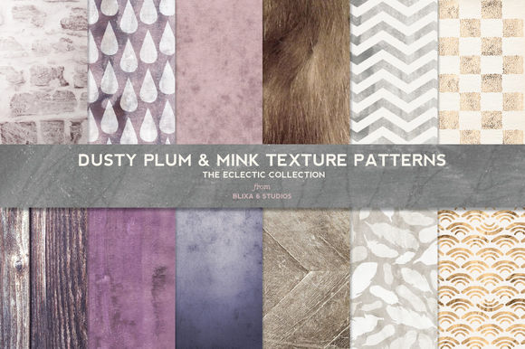 Dusty Plum And Mink Textured Patterns by Blixa6Studios is available from CreativeMarket for $8.