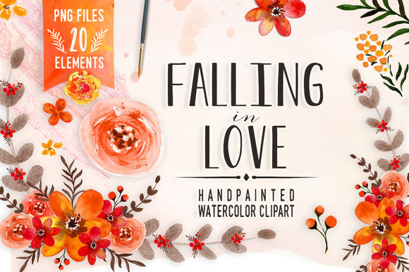 Falling In Love by DigitalCloud is available from CreativeMarket for $7.