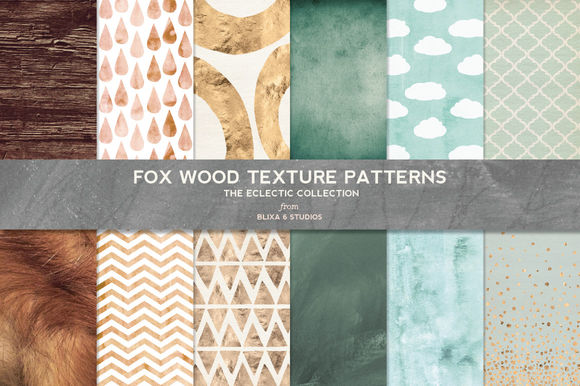 Fox Wood Textured Digital Patterns by Blixa6Studios is available from CreativeMarket for $8.